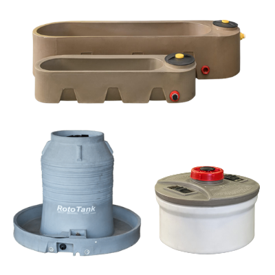 rototank, Water Tank Trough, feed drinking trough
